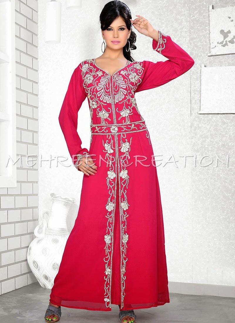DUBAI BRIDAL KAFTAN MODERN JILBAB JILBAB JILBAB ARABIAN ISLAMIC GOWN WOMEN CLOTHING EDH 3145 b673f8