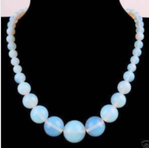 "Fashion Sri Lanka Moonstone Opal Round Gemstone Beads Tower chain Necklace 18/"""