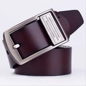 Men/'s Belt 100/% Genuine real Leather Big Size Waist  Super Long Length100-130cm