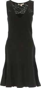 MICHAEL-KORS-Women-039-s-Fit-and-Flare-Dress-Black-size-Medium