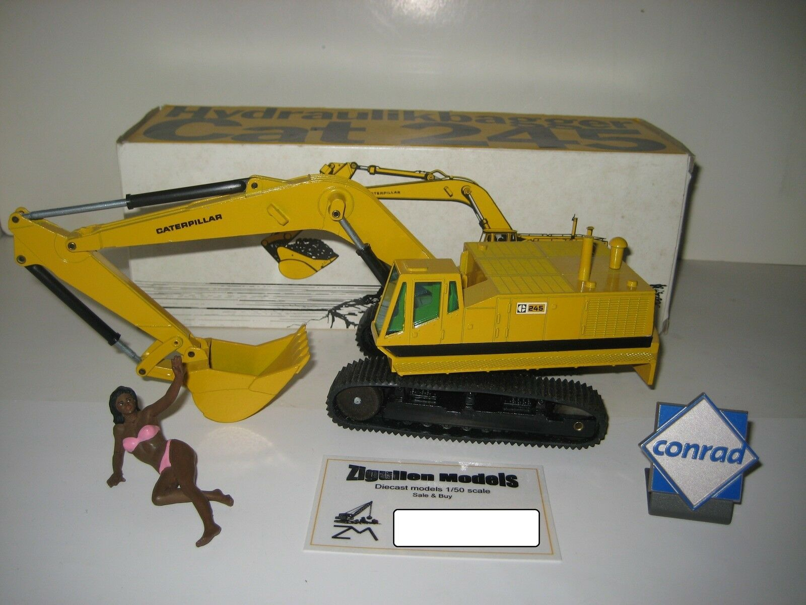Caterpillar 245 Excavateurs tieflöffel PacMan logo  160.1 NZG 1 50 neuf dans sa boîte