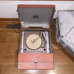 Motorola-Stereophonic-Record-Player-78-45-33-16-Turntable-Speakers-SP-26-R-Works