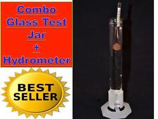 Combo Alcohol Wine Moonshine Still Hydrometer Proof Scale + Glass Test Jar 96%
