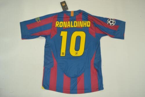 RONALDINHO BARCELONA 2006 UCL FINAL RETRO SHIRT S M L XL ETO/'O INIESTA
