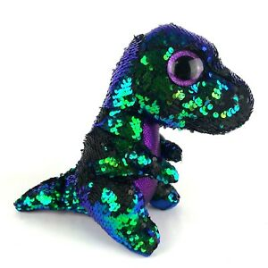 2018 TY FLIPPABLES CRUNCH Dinosaur Color Changing Sequins Medium 9/""