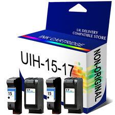 4 Generic Reman Ink for use in hp DeskJet 840c 841c 842c 843c printer