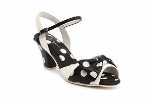 crema Sandalo nero Lola Fodera cinturino Eu38 e alla caviglia con uk5 Ramona Spot Elsie CqwxXHx