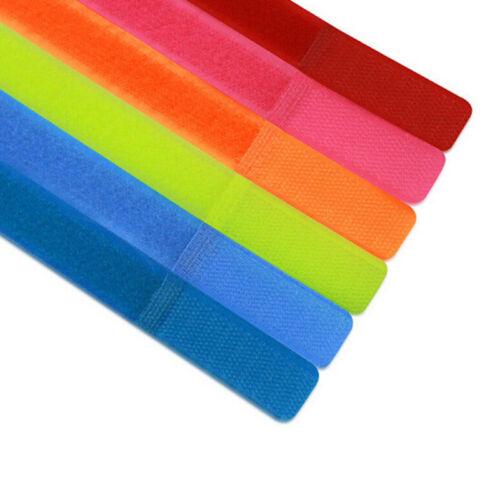 7-100pcs Multicolor Wire Cable Nylon Strap Wrap Tie Reusable Hook Loop SA