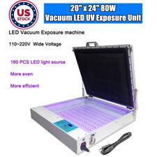 Pickup Tabletop Precise 20x24 80w Vacuum Led Uv Exposure Unit Screen Printing