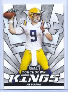 Joe-Madriguera-2020-Hoja-034-Touchdown-Kings-034-Carta-Rookie-85-Lsu-Heisman