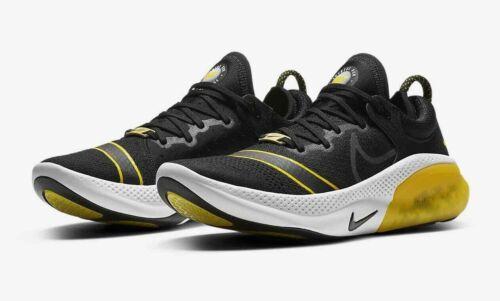 Nike velocidad Joyride ejecutar Flyknit FC Negro Amarillo UK 9