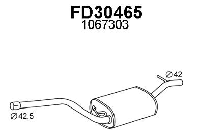 Bene Silenziatore Marmitta Centrale Ford Focus