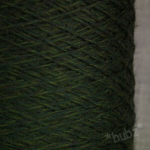 SUPER-SOFT-4-PLY-PURE-MERINO-WOOL-GREEN-TWEED-500g-CONE-HAND-amp-MACHINE-KNITTING