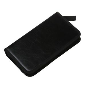 80-VCD-DVD-CD-Faux-Leather-Case-Storage-Holder-Organizer-Black-T2Z2