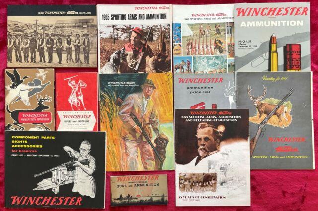WINCHESTER RIFLES - SHOTGUNS - AMMUNITON CATALOGS - 1934-1975 - 12 CATALOGS