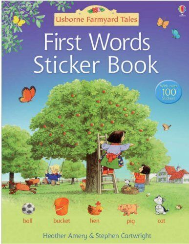 First Words Sticker Book (Farmyard Tales) by Amery, Heather Paperback Book The