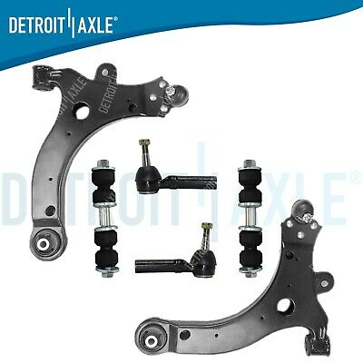 4x4 Front Lower Control Arms w//Ball Joints and Front Sway Bar Links for 2006-2017 Ram 1500 5-Lug 4WD Detroit Axle