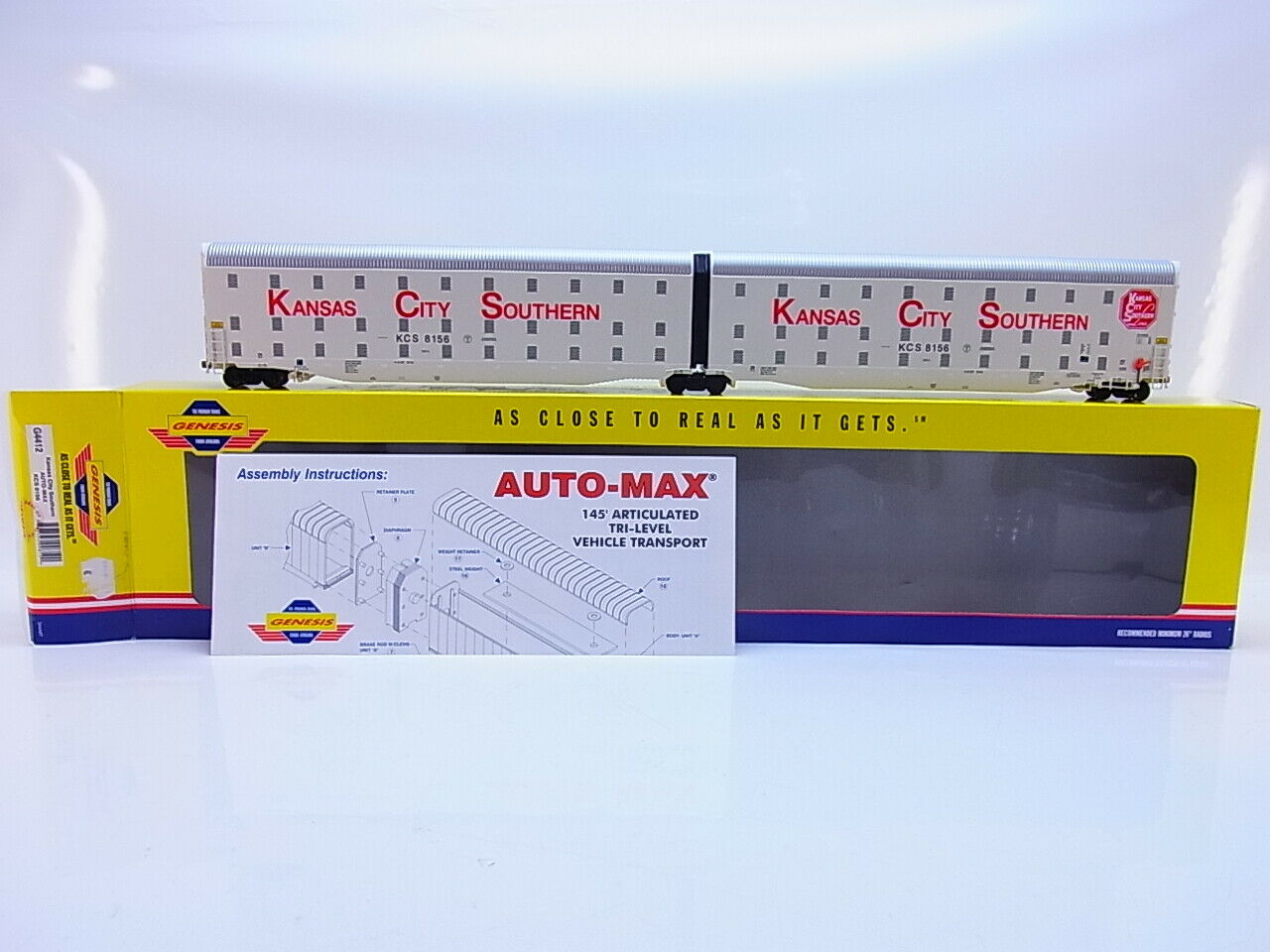 55116 Neuwertiger Atearn Genesis H0 G4412 Kansas City bil -Max KCS 8156 i OVP