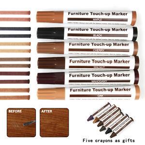 Wood Furniture Repair Pen Marker Pen Wax Scratch Filler Remover Repair Fix 12Pc