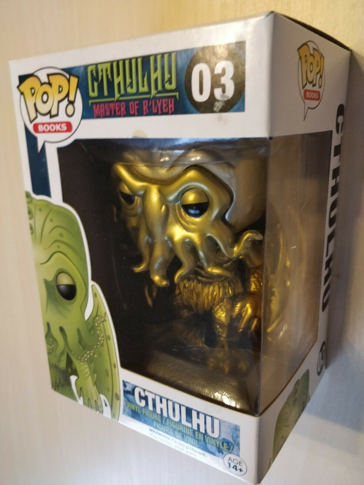 Funko Pop  H.P. Lovecraft Cthulhu Master of R'lyeh Vinyl Figur Gold Metallic