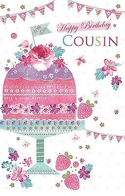 Fantastic Happy Birthday Cousin Cake Bunting Design Bright Modern Happy Funny Birthday Cards Online Aboleapandamsfinfo
