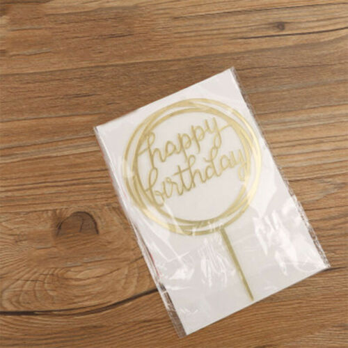 Lot Cake Happy Birthday Acrylic Cake Topper Card Decoration DIY Party Supplies