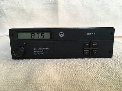 vw alpha stereo radio unit vw mk1 mk2 radio 191035156 ebay. Black Bedroom Furniture Sets. Home Design Ideas