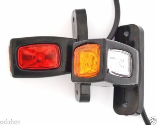 2 X Seite Heck Marker Led-Lampen 12v Fahrwerk Anhänger Lkw für Volvo Renault DAF