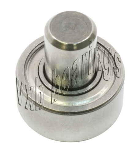 """1//2/"""" Inch Ball Bearing with 1//4/"""" diameter integrated 7//8/"""" Long Axle Steel Wheel"""