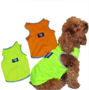 Dog-clothes-shirt-pet-jersey-clothes-summer-dog-jersey-Fluorescence-safety-vest
