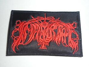 Immortal Patch Embroidered Iron//sew on Black Metal