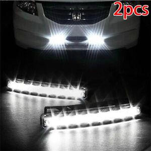 Universal-8-LED-Auto-Licht-Tagfahrlicht-Tagfahrlicht-Tagfahrlicht-LampeTP-TG