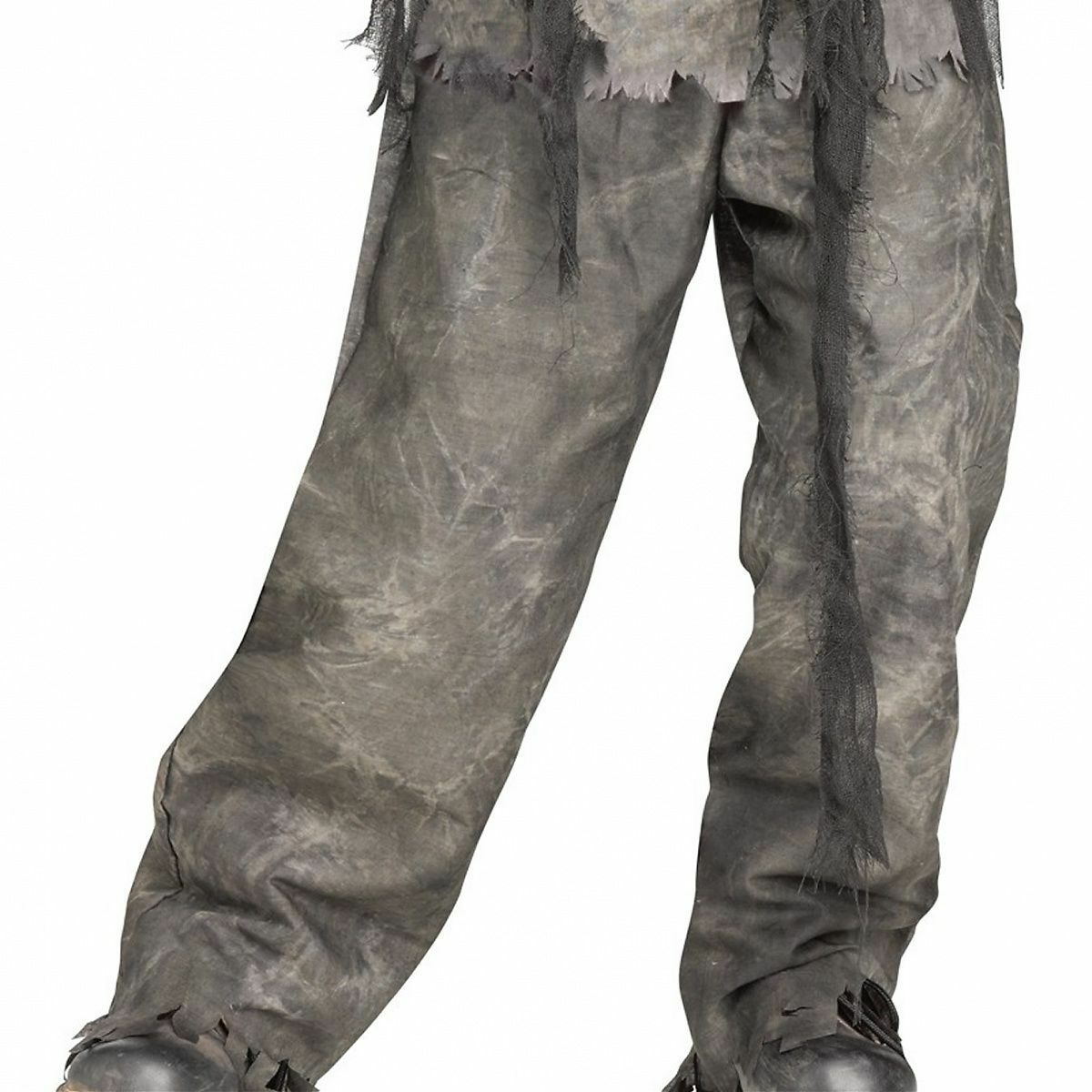 Burning Dead Zombie Costume for Kids size 8-10 & 12-14 New by Fun World 88490