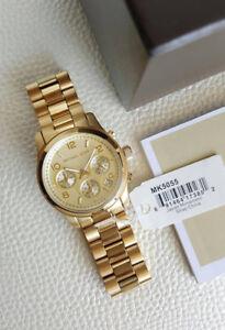 Michael-Kors-Midsized-Chronograph-Gold-tone-Unisex-Watch-MK5055