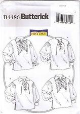 Shirt Historical Colonial Pirate Poet Costume Sewing Pattern XL XXL XXXL 46-56