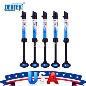 DENTEX-Dental-Universal-Composite-Light-Curing-Refill-Resin-Syringe-B1-Shades
