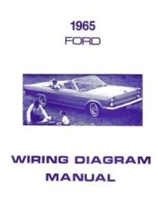 ford 1965 custom, galaxie and ltd wiring diagram manual ebayimage is loading ford 1965 custom galaxie and ltd wiring diagram