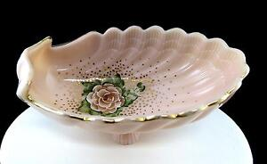 CAMBRIDGE-CROWN-TUSCAN-ABELS-WASSERBERG-ROSE-SCALLOPED-SHELL-8-1-2-034-OVAL-BOWL
