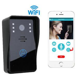 Image is loading Smart-Wireless-WiFi-Video-Camera-Door-Phone-Doorbell-  sc 1 st  eBay & Smart Wireless WiFi Video Camera Door Phone Doorbell Intercom ...