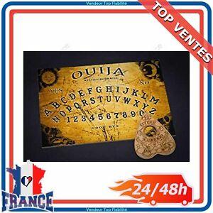 Classique-Bois-en-Planche-de-Ouija-avec-sa-Goutte-avec-Instructions-Detaillees
