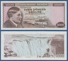 Island/Iceland 5000 kronur l.1961 UNC p. 47