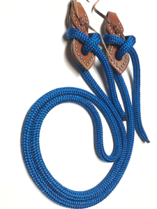 bluee yacht  rope reins leather tie on slobber strap royal bluee  promotional items
