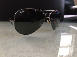 7ee37b0c24a Image is loading Authentic-Ray-Ban-Aviator-Sunglasses-RB3025-W0879-58mm-