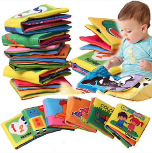 HOT Kids Baby Intelligence Development Cloth Fabric Cognize Book Educational Toy