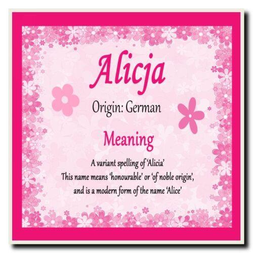 Nom personnalisé Alicja sens coaster