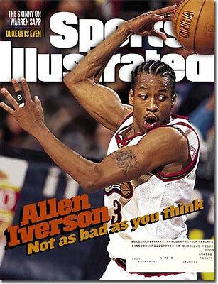 Sports Illustrated 3/9/98 Allen Iverson/Philadelphia 76ers/Warren Sapp/Duke/NFL