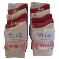 10 Pairs Girls Baby Elle Designer Socks 5 Styles Baby - 2 Years