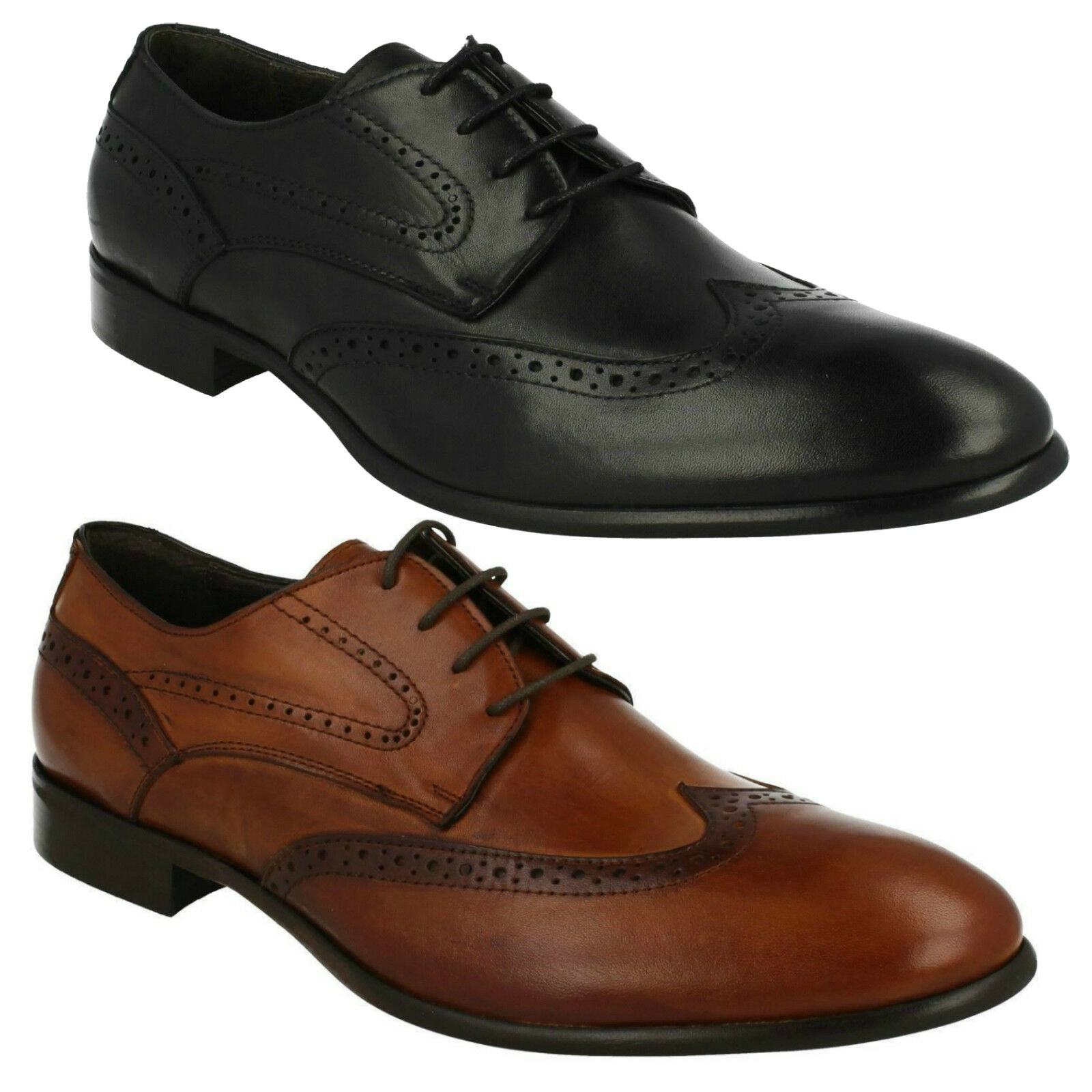 MORENA GABBRIELLI FA-B2423 MENS SMART LACE UP BROGUE FORMAL WORK schuhe EVERYDAY  | Ästhetisches Aussehen