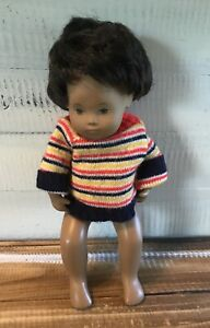 Vintage-Sasha-Doll-Dark-Skin-Dark-Brown-Hair-12-034-Tall-Striped-Sweater