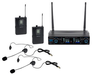 Vocopro-Digital-2B-90-ch-UHF-Dual-Casque-Sans-Fil-Microphone-Systeme-Rechargeable